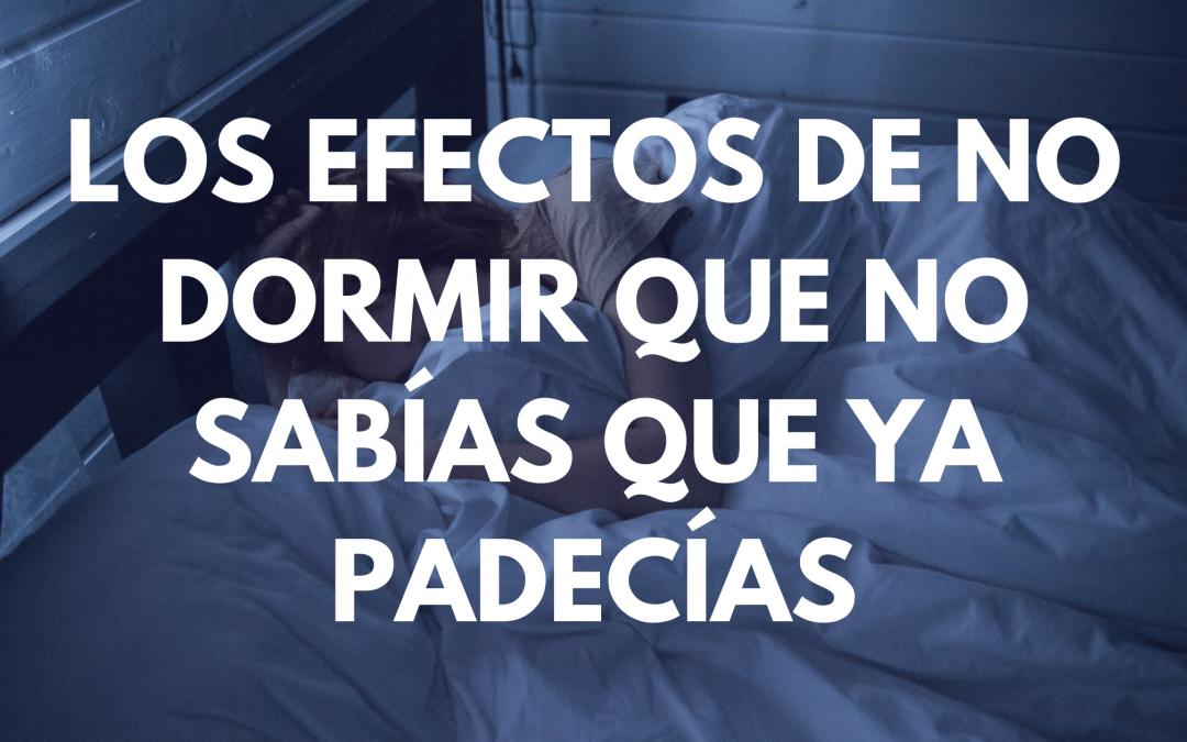 Los efectos del insomnio
